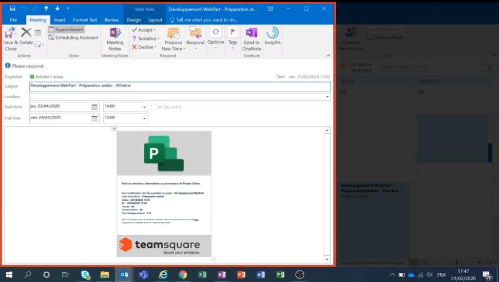 P2O Microsoft Outlook